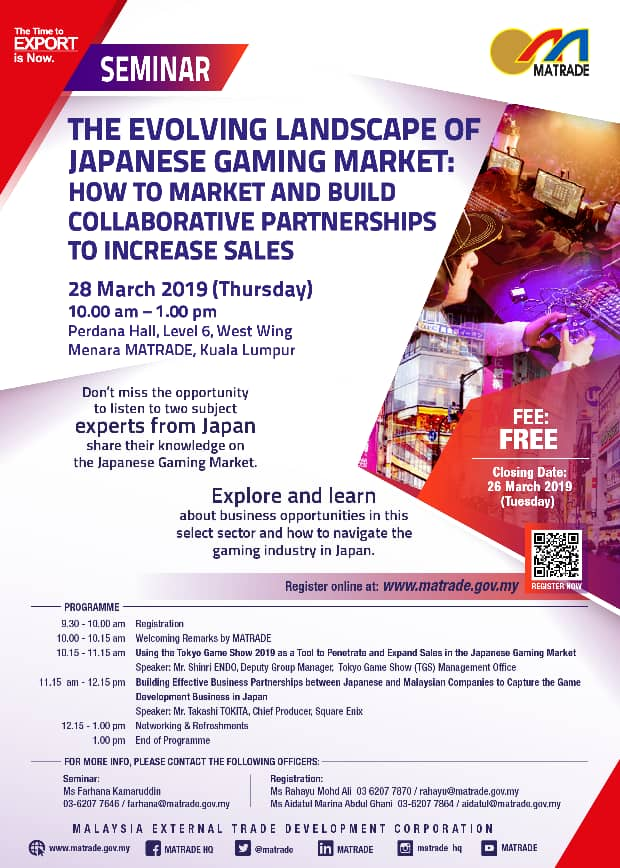 Seminar – The Evolving Landscape of Japanese Gaming Market
